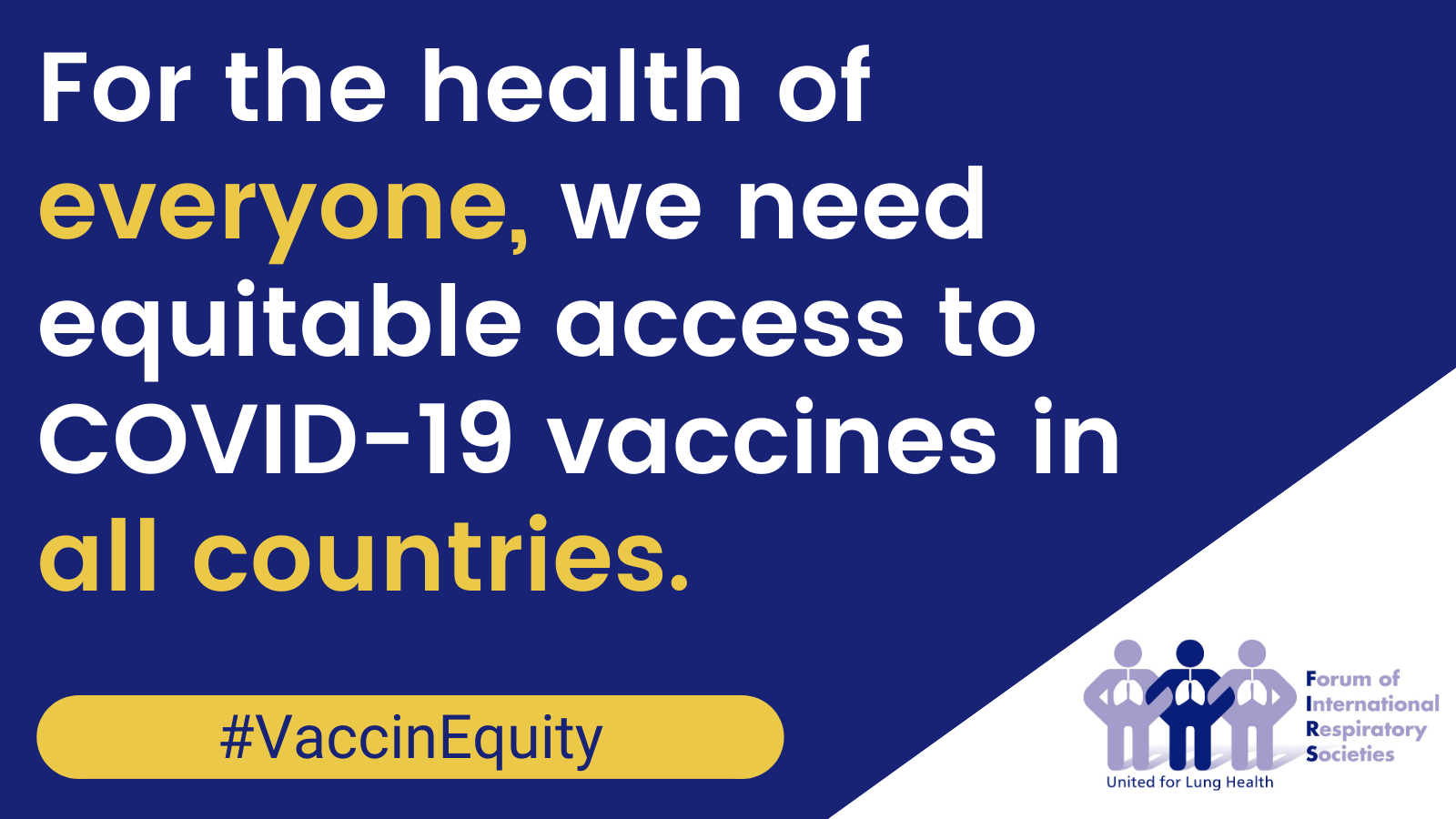 Vaccination is a key part to control the COVID-19 pandemic. For vaccines to work they should have acceptable efficacy and safety and be delivered equitably worldwide