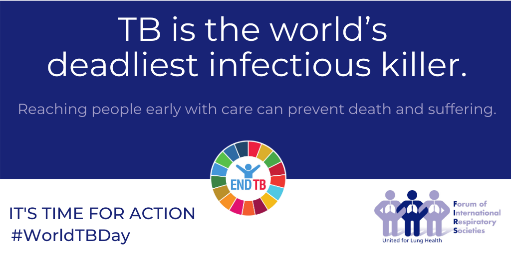 Global respiratory groups join WHO, calling on world leaders to act on the commitments made to end TB